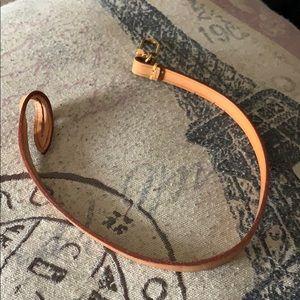 Auth Louis Vuitton pochette wristlet leather strap